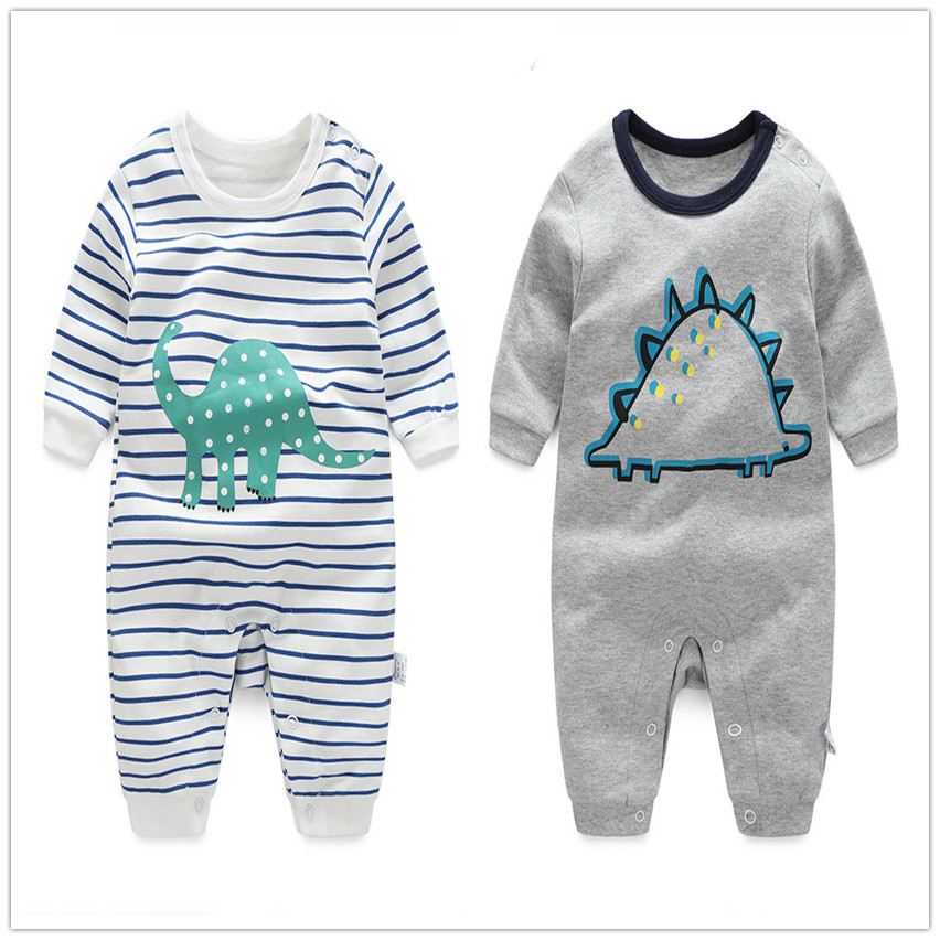2016 Dinosaur 0-24M new babygirl boy romper clothes onepiece jumpsuit brand costume toddler suit infant clothing 100% Cotton