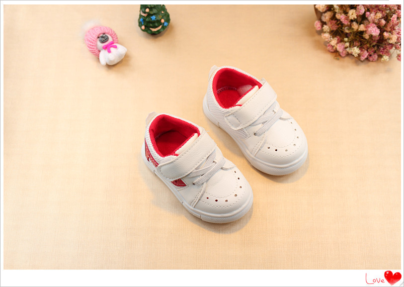 2018 spring and autumn new baby soft bottom toddler shoes 0-1 years old white shoes boys sports shoes free shipping