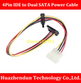 Full  Copper  Core   4Pin IDE to Dual SATA Power Cable  30CM   Angle Connector   IDE to 2 x SATA   IDC Cable  Pierce Type