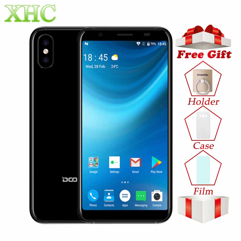 WCDMA 3G DOOGEE X55 Android 7.1 5.5inch Smartphones MTK6580 Quad Core 1GB RAM 16GB ROM 8.0MP+8.0MP 2800mAh Dual SIM Mobile Phone