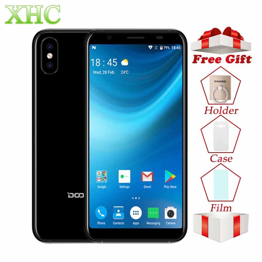 WCDMA 3g DOOGEE X55 Android 7.1 5.5 pouces Smartphones MTK6580 Quad Core 1 gb RAM 16 gb ROM 8.0MP + 8.0MP 2800 mah Dual SIM Mobile Téléphone