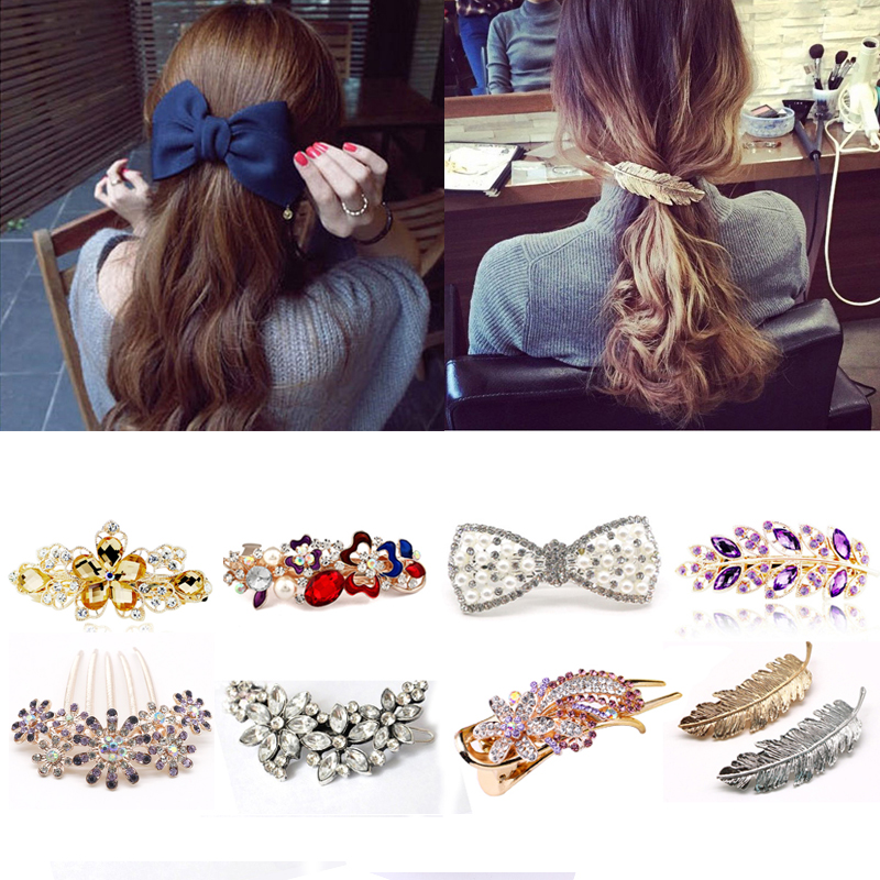 1pcs Hair Clips For Girls Female Different Style Hairclips Headwear Barrette Hairgrips Hair Ornament Hair Accessories for Women
