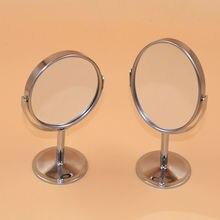 Мода женщин настольных зеркало творческий нержавеющая сталь двойная — металлическая зеркало косметическое увеличительное зеркало для домашнего офиса