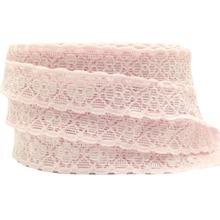 купить High Quality Stretchy Pale Pink Lace Elastic 2cm Light Pink Lace Trim Ribbon for DIY Headwear Headband Hair Accessory 10yard/lot по цене 215.58 рублей