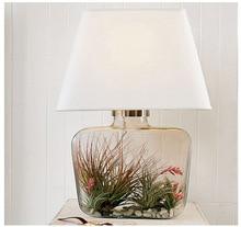 Лампы настольные лампы внутреннее освещение нью-2014 классическая лобби отеля ваза стекло спальня настольная лампа творческий исследование гостиная освещение