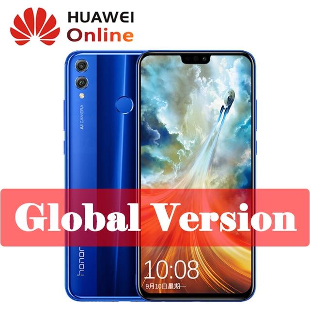Original Global Version Huawei Honor 8X JSN-L22 6.5 inch OTA Update LTE 6.5 Inch Screen Smartphone Android 8.1 Octa Core 1.5GHz
