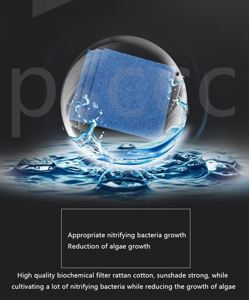 Толщина ротанга Хлопок Фильтр-аквариум использовать Биохимический хлопок аквариума культура бактерий очищающие рыбные чаши инструменты для очистки