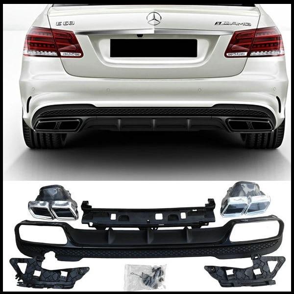 Becquet De L/èVre De Diffuseur Arri/èRe De Voiture Abs pour 4-D/éChappement pour Mercedes-Benz Classe A W176 /à Hayon A45 Amg A180 A200 2013-2018