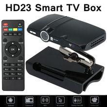 HD23 smart TV box 5.0MP y Micrófono Android cámara de TV HDMI 1080 P 1 GB/8 GB del androide 4.4 skype Google cuadro de TV Android medios HD23 jugador
