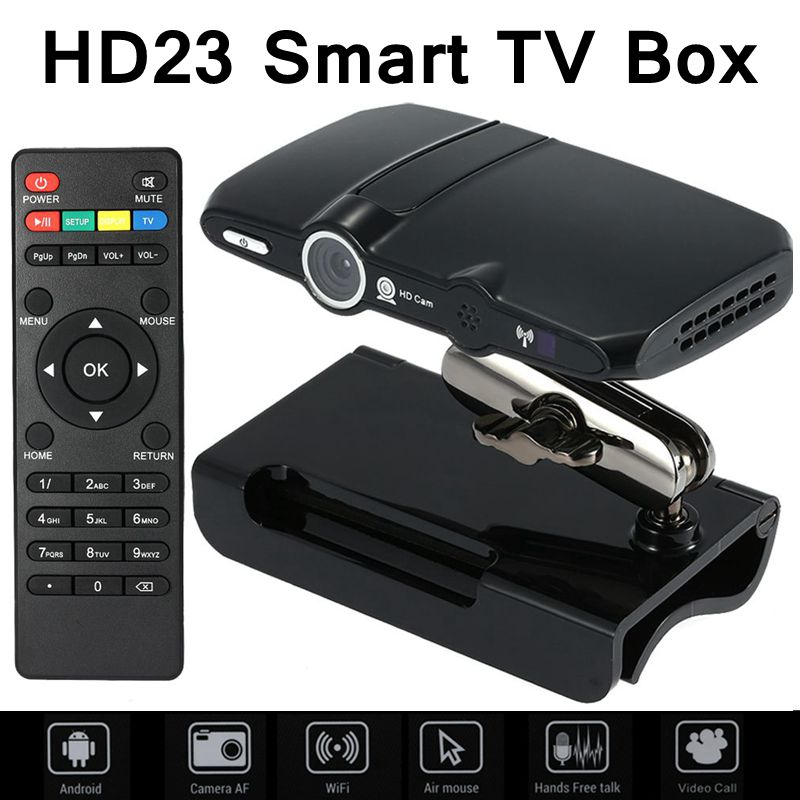 HD23 smart TV box 5.0MP y Micrófono Android cámara de TV HDMI 1080 P 1 GB/8 GB d