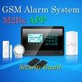 Бесплатная Доставка Волк Гвардии M2Bx GSM Сигнализация Меню Руководство и Руководство голос Prompt Сенсорный Поддержка Клавиатуры Двери/Окна Открыты Сигнализации