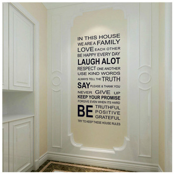 Hot Wall Sticker Humor Philosophy Quote Love Family WORDS Wall Sticker Love Each other Be Positive