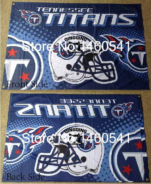 Tennessee Titans New Wordmark Flag 3ft X 5ft Polyester Nfl