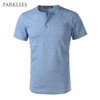 Fashion Casual T Shirt Men 2017 Summer Short Sleeve Slim Fit Men T Shirts Solid Color