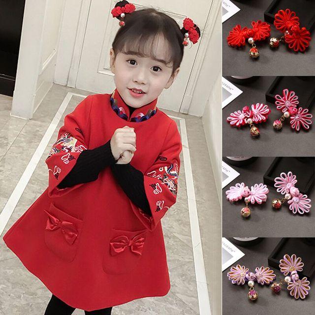 e96fe21e2 Tiaras 2018 Chinese Style Baby Hair Pins Trim Tang Dynasty New Year  Headdress Children's Cheongsam Hanfu