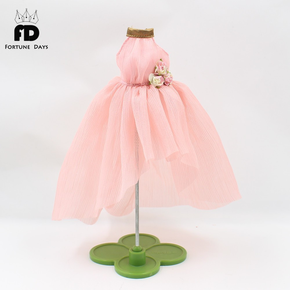 Free shipping Blyth Doll clothes dress pink dress ceremonial robe or dress formal attire flower dress, only for 1/6 doll, 30cm