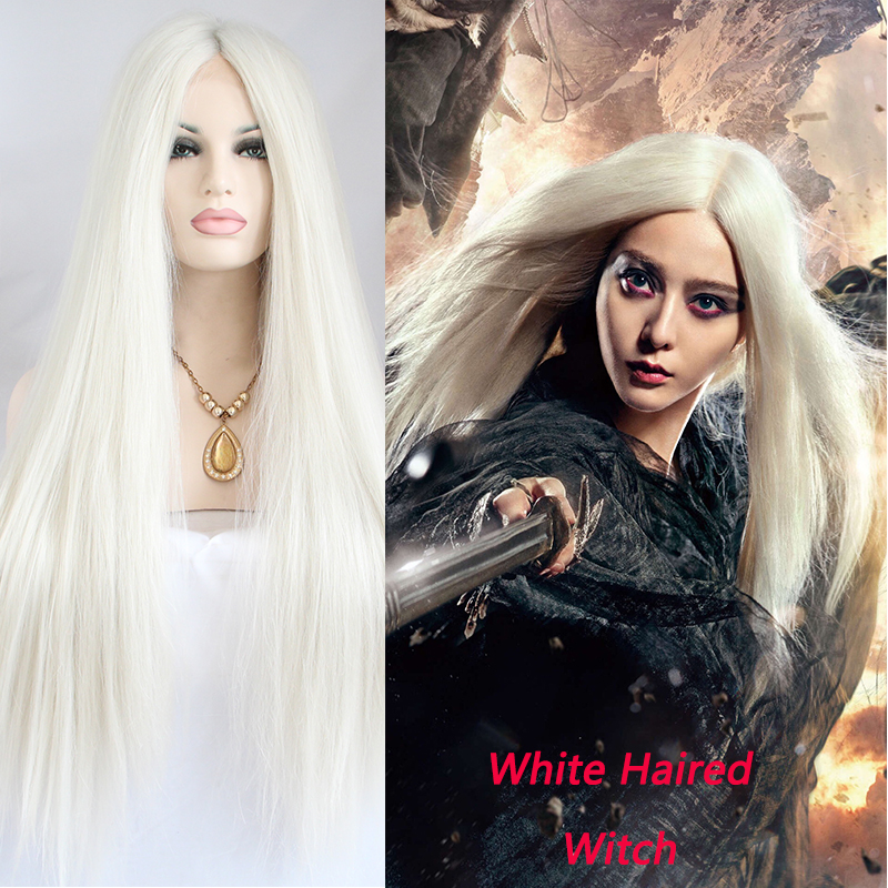 Hot Sale White Lace Front Synthetic Hair Wigs White Haired Witch High  quality natural Wigs on Aliexpress.com  ca5cd1b599c7