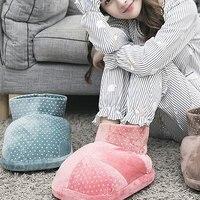 1 шт зима электрическая грелка для ног дизайн ботинок не скользит мягкий теплый спальный теплые WXV распродажа