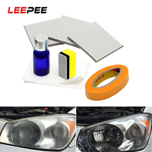 Kit de polissage et éclaircissant pour phares de voiture, anti rayures, restauration des phares, lentilles, restauration de la clarté