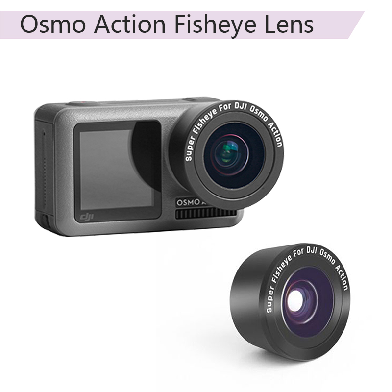 BonFook OSMO Action Fisheye Lens HD Anti-Shake for DJI OSMO Action ...