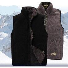 2018 New Men Warm Fleece Vest Winter Thick 2 Sides Wearing Casual Waistcoat Windproof Sleeveless Jacket
