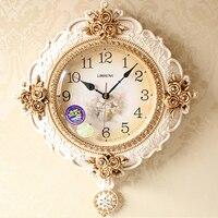 Rustic Durable Creative Plastic Wall Clock Craft Wall Watch Circular Home Decor Muovia Modern Clocks Decorative Tools 40A0907