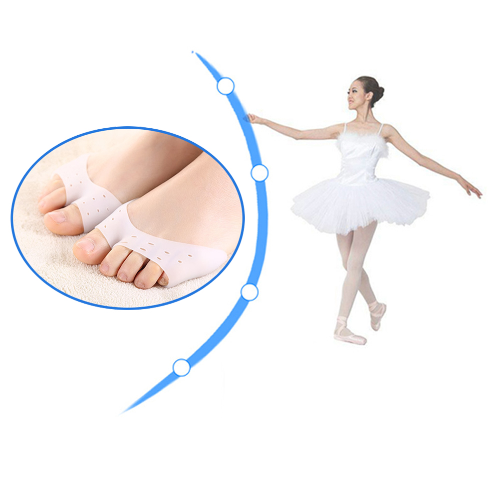 2 Pcs Silicone Toe Sleeve Foot Protection Ballet Shoe Toe Pads Gel Protective Care Tool Orthopedic Massager Z38201
