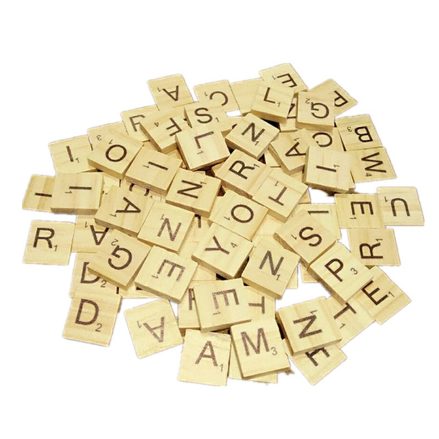 Us 168 40 Off100pcsset English Words Wooden Letters Alphabet Tiles Black Scrabble Letters Numbers For Crafts Wood In Figurines Miniatures