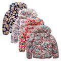 Marca niños abrigo ropa de invierno embroma la ropa doble cubierta a prueba de viento caliente de los bebés chaquetas para 3 - 8 T