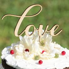 Amor De Madera Pastel de Bodas Topper/Silueta de La Torta/Decoraciones de La Boda/Regalo de Boda Rústica/Glitter topper para cake/4 color