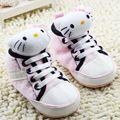 Moda Rosa Olá Kitty Sapatos Meninas Miúdos Criança Infantil Botas de Sola Macia Do Bebê Crianças Primeiro Walker Tênis Sapatinhos de Bebe 0-18 M