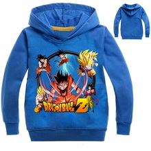Z&Y Children Dragon Ball Hoodie Super Broly Jacket Kids Long Sleeve Casual Hooded Sweatshirts Boys Hoodies Baby Spring Clothes