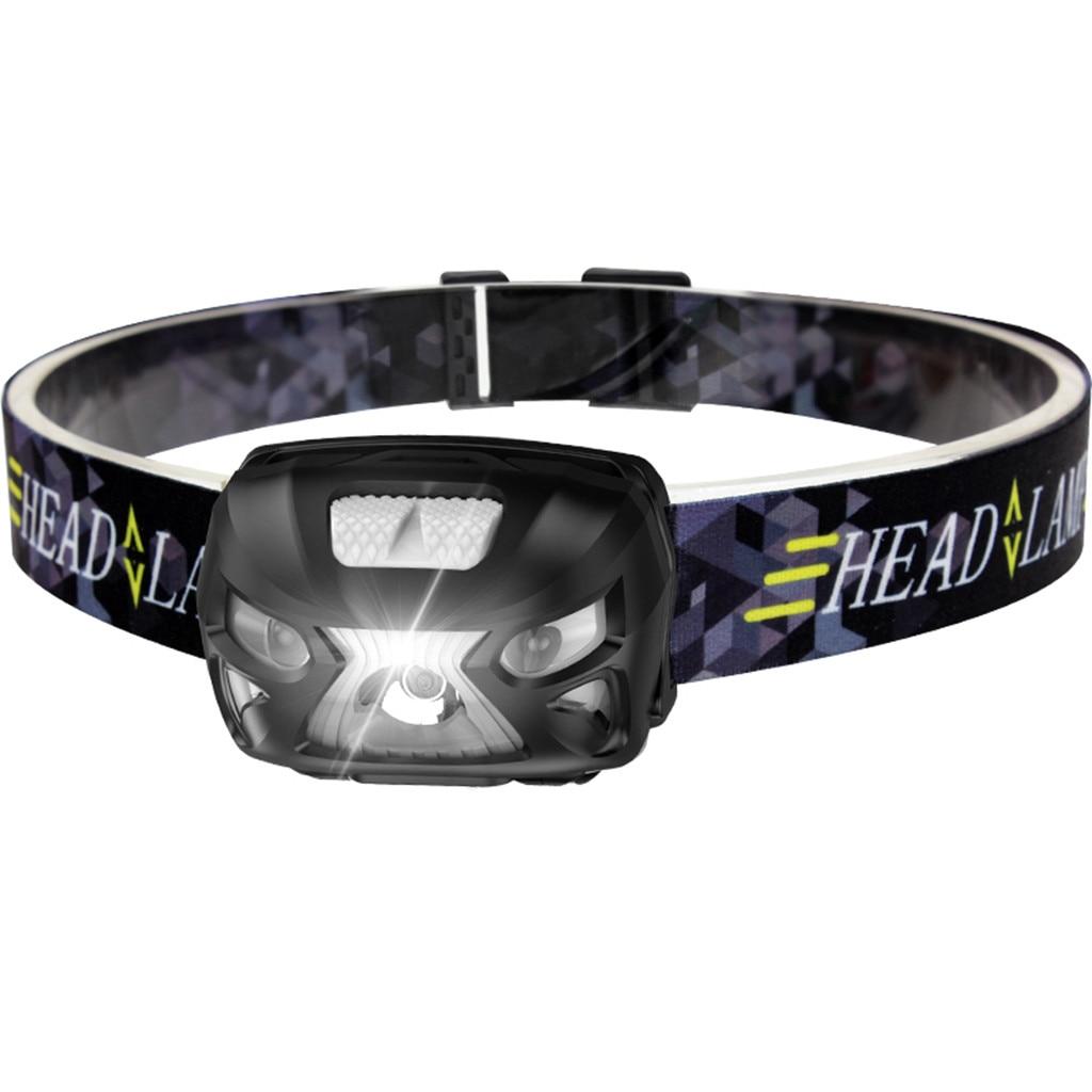 LED Headlamp Fishing Headlight 6000 Rechargeable Motion Sensor Headlamp USB Camping Lamp Torch Fishing Head Lamp Bicycle Light