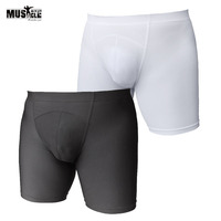 Men Compression Shorts Gyms Tight Shorts Workout For Male Bodybuilding Clothing Spandex Lycra 5 Inseam Shorts
