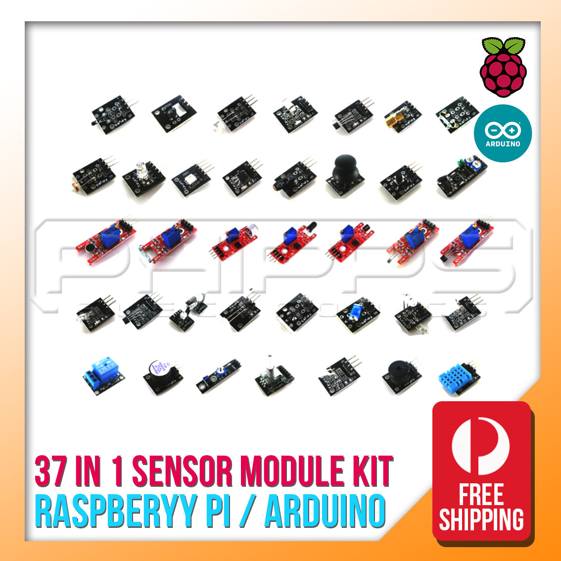 Ultimate 37 in 1 Sensor Module Kit for  & Raspberry Pi
