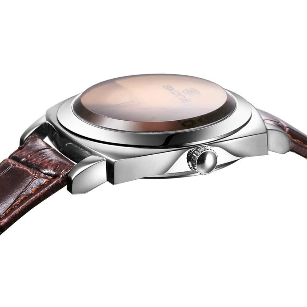 Unique Vogue concepteur SKONE marque montres hommes de luxe de mode bracelet en cuir décontracté montre Quartz Wrtistwatch Relogio masculino