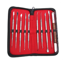 High Quality 10 pcs/set Dental Lab Equipment Wax Carving Tools Set Surgical Dentist Sculpture Knife Instruments Tool Kit