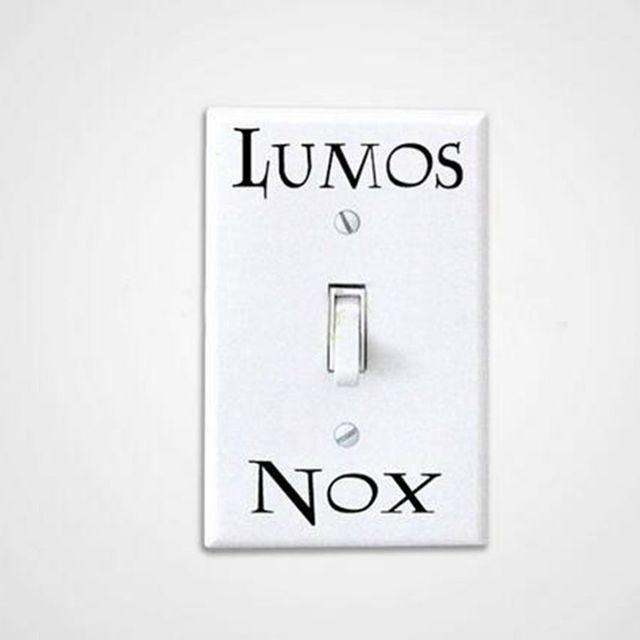 3 Pcs/Set  Lumos Nox Light Switch Sticker , Creative Switch Sticker Vinyl Harry Potter free shipping