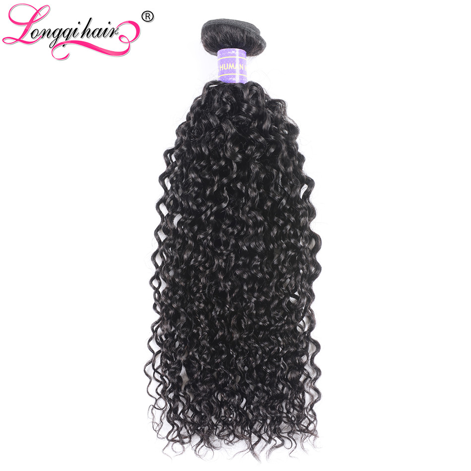 Hair Extensions & Wigs Human Hair Weaves Search For Flights Longqi Hair Brazilian Curly Weave Remy Human Hair Bundles 1/3/4 Pieces Black Color 8-26 Inch Hurela Collection Free Shipping Attractive Fashion