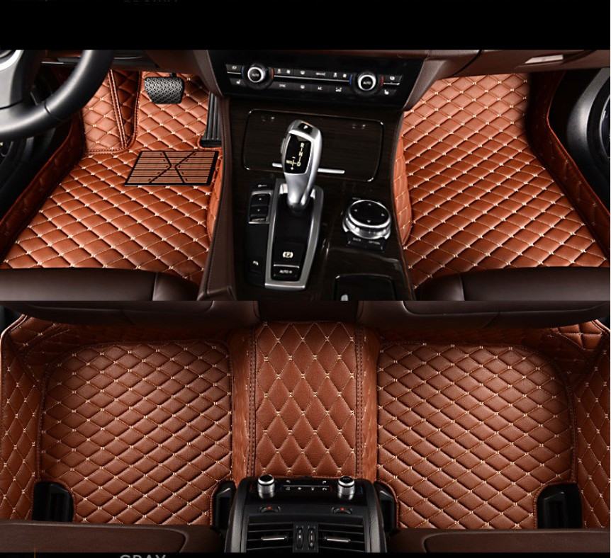 Auto Floor Mats For TOYOTA Corolla 2007-2013 Foot Carpets Car Step Mats High Quality Brand New Embroidery Leather Mats