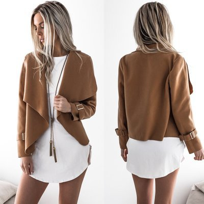 Basic     Jackets     Jacket   Women Fashion Women Coat Autumn And Winter New Lapel Turn Down Collar Coat   Jacket   Women