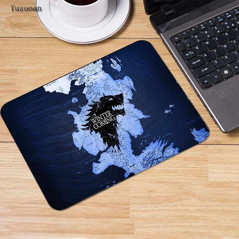 Game Of Thrones Yuzuoan keyboard Gaming Mouse Pad Mouse Mat Ukuran 18*22 cm dan 25*29 cm meja komputer desktop non-slip tikar
