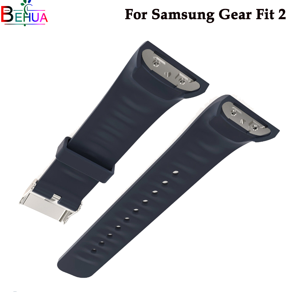 Silicone wristband For Samsung Gear Fit 2 watch Replacement fashion sport watch band strap For Samsung Gear S2 watch Accessories