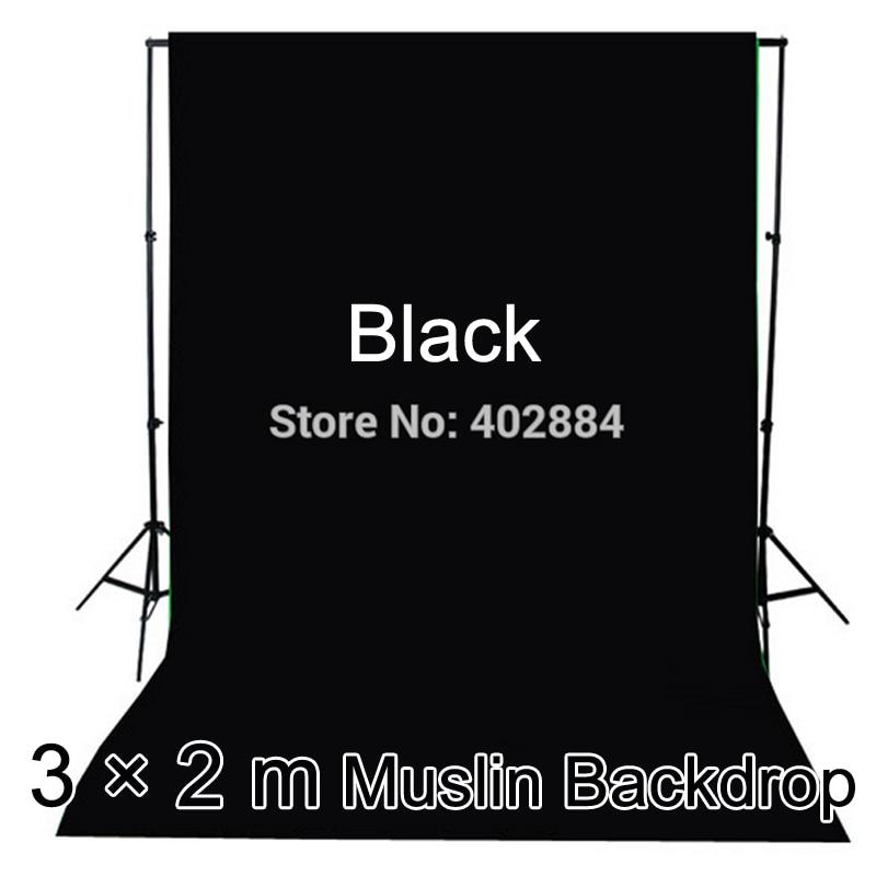 3x2M crni zaslon fotografiju Valentinovo pozadina pamuk Muslin - Kamera i foto - Foto 2