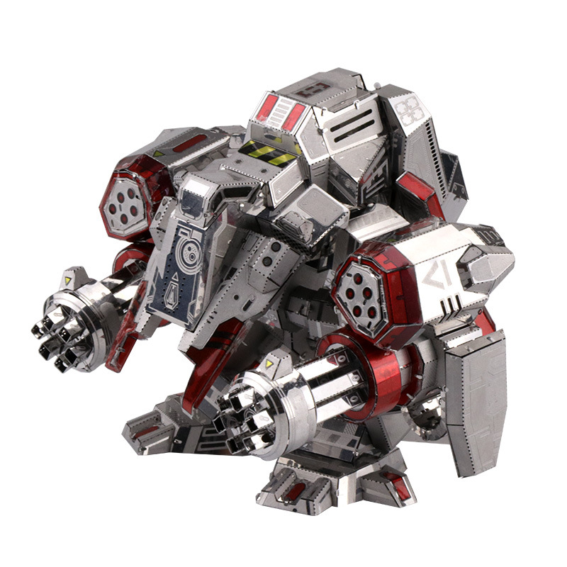 MU 3D Metal Puzzle Star Craft Terran Viking Set Armor Plane Model DIY 3D Laser Cut