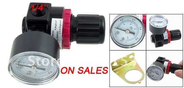 Free Shipping 1/4'' Air Control Compressor Pressure Relief Regulating Regulator Valve AR2000 5~60'C Degree 180psi air compressor pressure valve switch manifold relief gauges regulator set