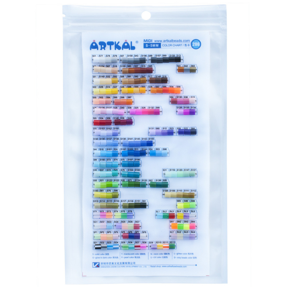 Artkal Beads Physical Color Chart