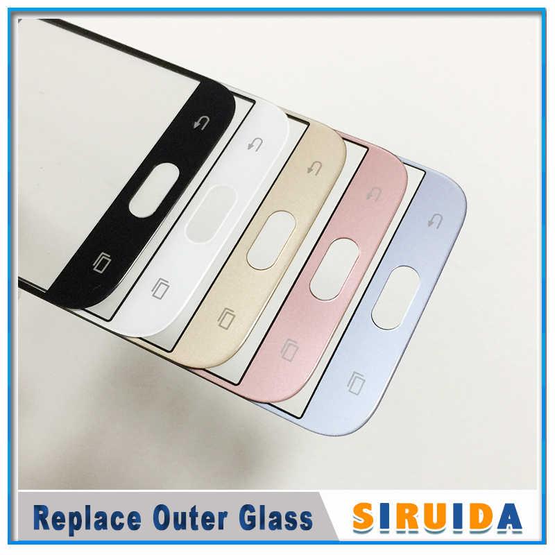 Lentille en verre d'écran extérieur avant d'affichage à cristaux liquides pour Samsung J330 J530 J730 J530F J5Pro J7pro J3 J5 J7 2017 remplacement de panneau d'écran tactile