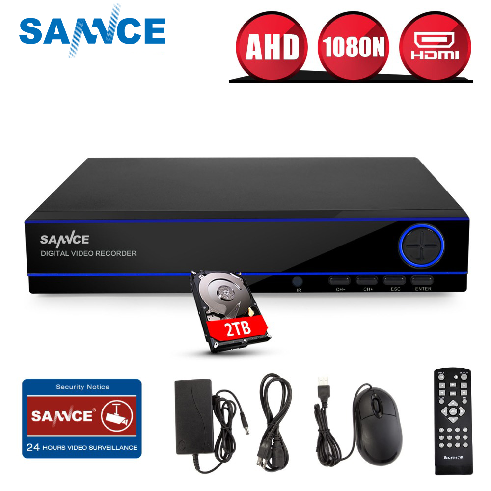 SANNCE Home Surveillance System 16CH Full 960H Security HI3531 DVR HDMI 1080N Hybrid CCTV NVR HVR Video Recorder 16 Channel 2TB