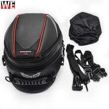 WOSAWE Motorcycle Tail Bags Waterproof Motocross Motorbike Travel Tank Bag Rear Seat Trunk Pack Reflective Safety Helmet
